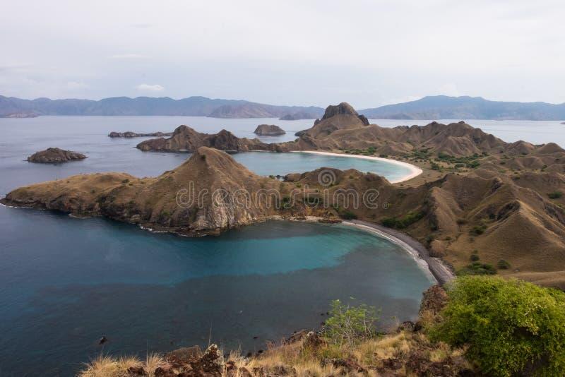 Isola di Padar in Labuan Bajo, Flores Indonesia fotografia stock libera da diritti