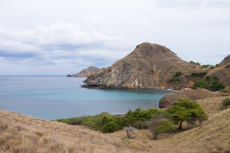 Isola di Padar in Labuan Bajo, Flores Indonesia immagine stock libera da diritti