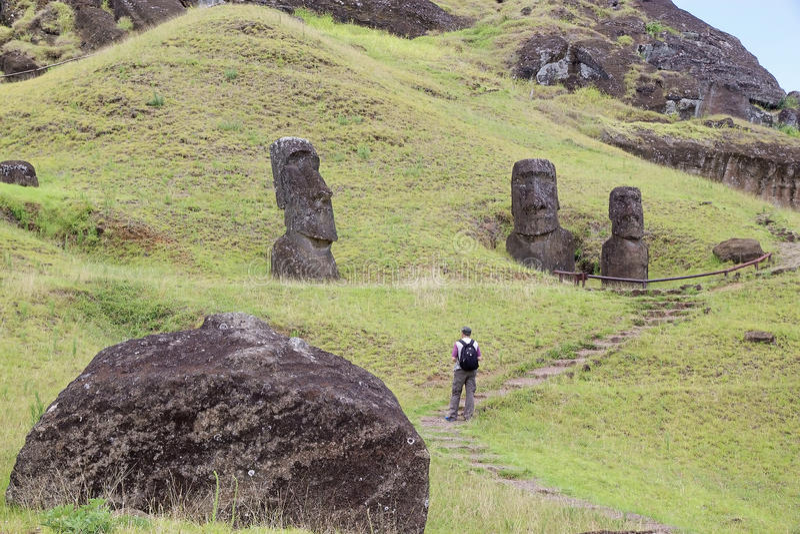 Isola di pasqua, Cile fotografia stock