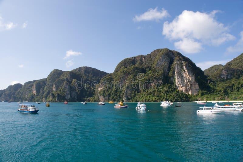 Isola di Phi di Phi, Tailandia fotografia stock
