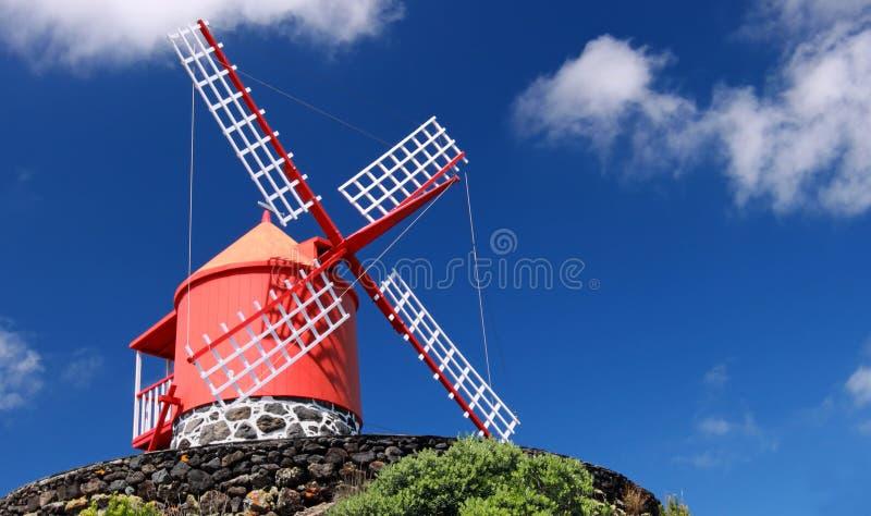 Isola di Pico del mulino a vento, Azzorre (Portogallo) fotografie stock