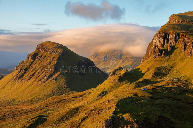 Isola di Quiraing Skye, Scozia fotografie stock libere da diritti