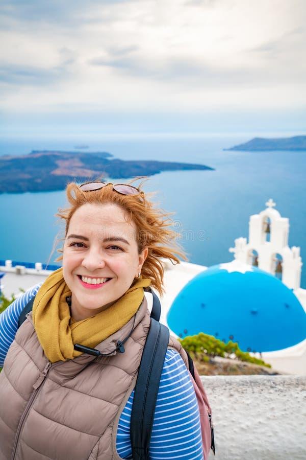 Isola di Santorini, Grecia, una di destinazioni di viaggio pi? belle del mondo fotografie stock libere da diritti