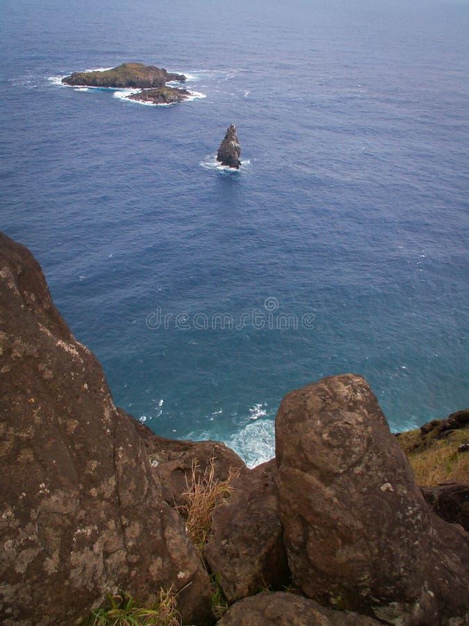 Isola di sfida di Birdman dell'isola di pasqua fotografie stock