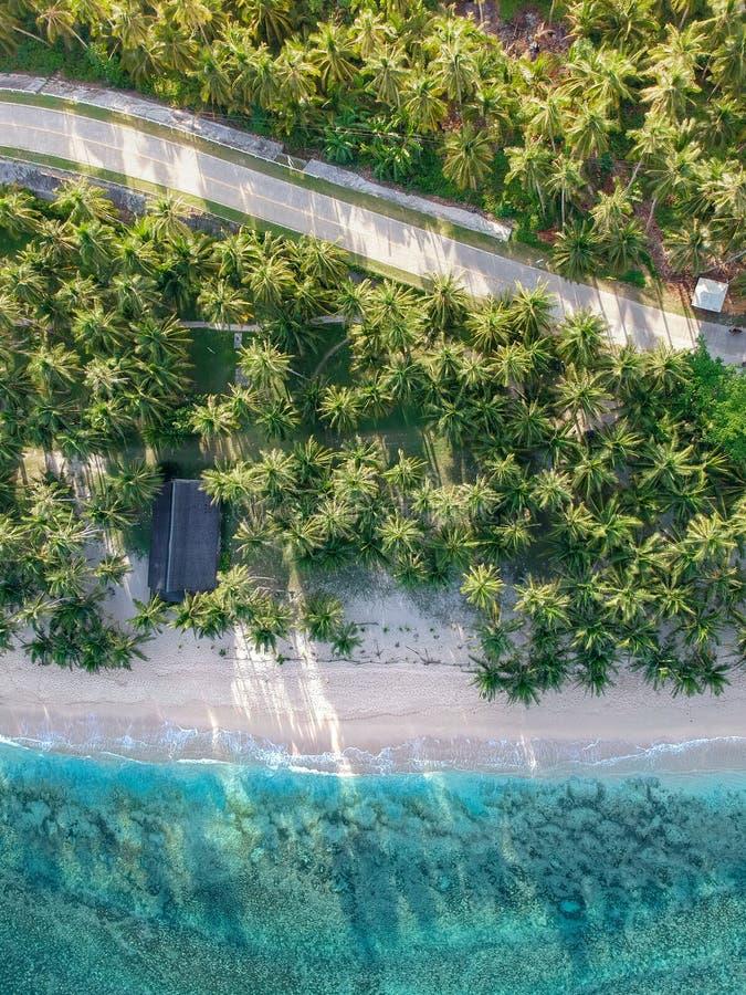 Isola di Siargao da sopra - le Filippine fotografie stock libere da diritti