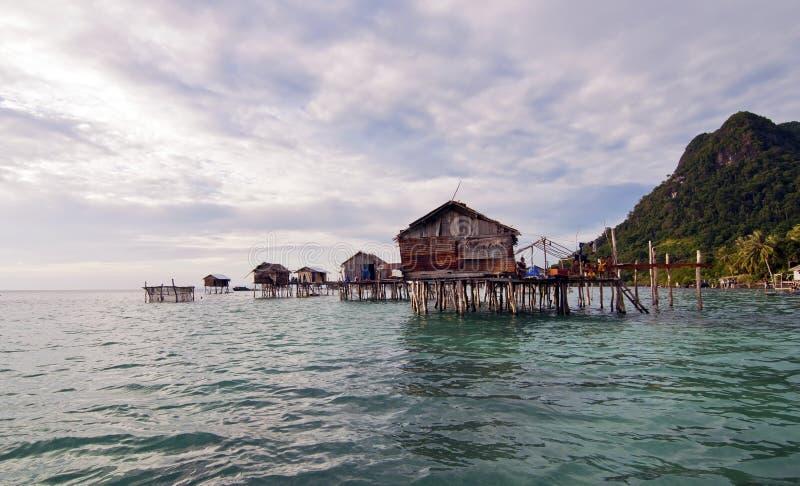 ISOLA DI SIBUAN, SABAH, MALESIA - 3 MARZO: Gyp non identificato del mare fotografia stock
