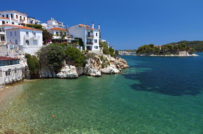 Isola di Skiathos in Grecia fotografie stock libere da diritti