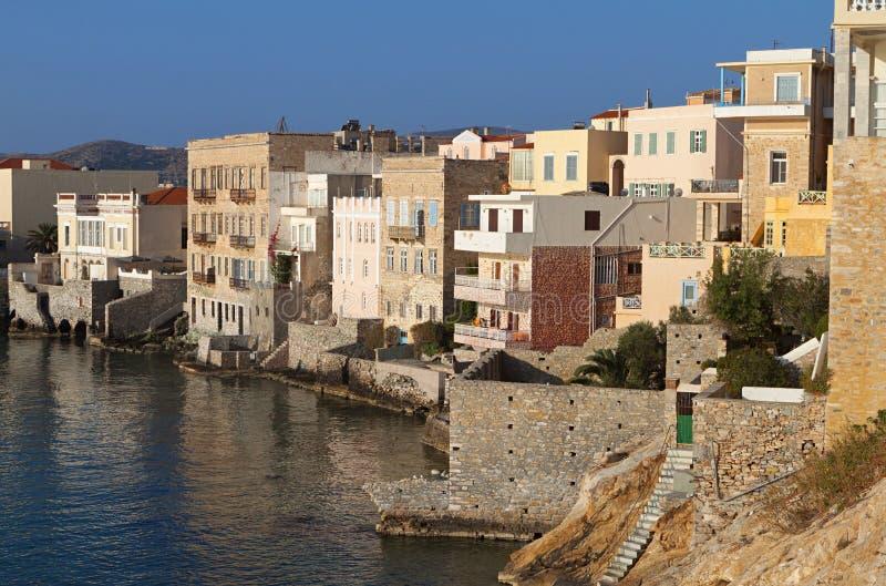 Isola di Syros in Grecia immagini stock libere da diritti