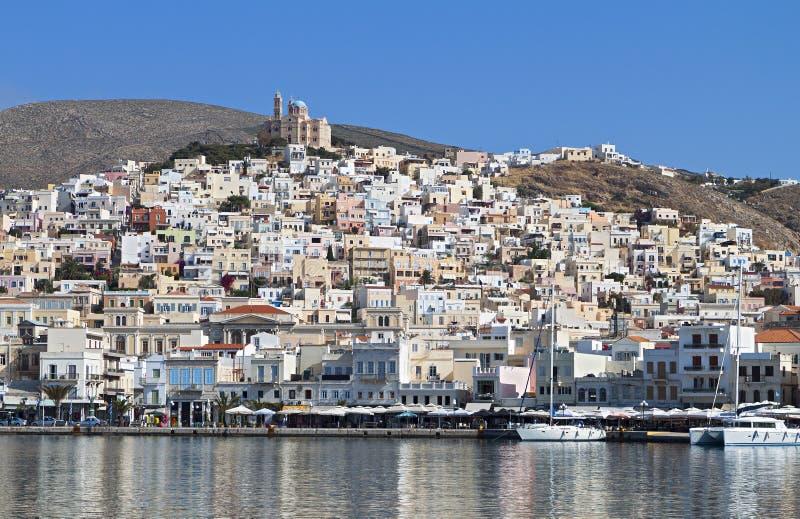 Isola di Syros in Grecia immagini stock