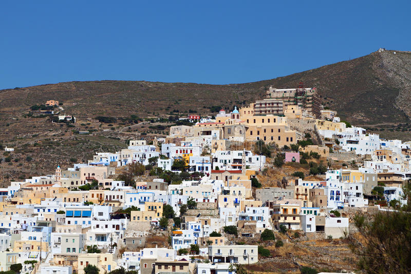 Isola di Syros in Grecia fotografie stock libere da diritti