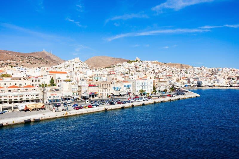 Isola di Syros in Grecia fotografia stock