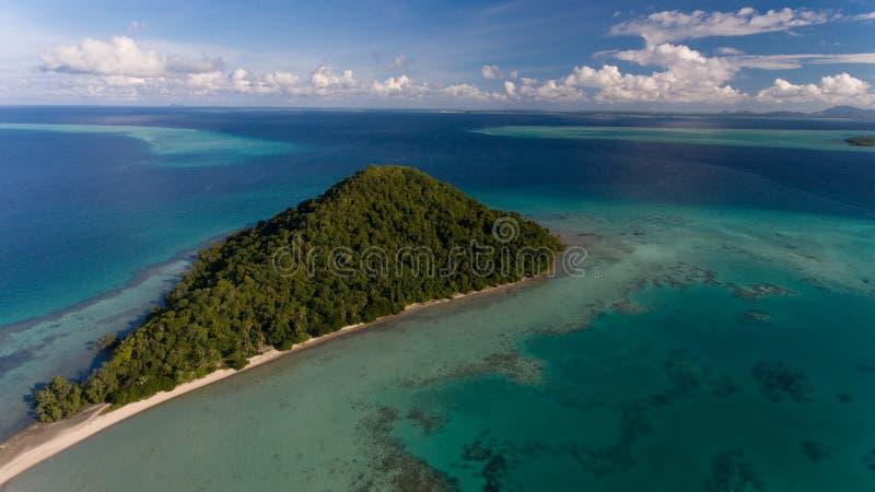 Isola di Tatagan, Semporna fotografia stock