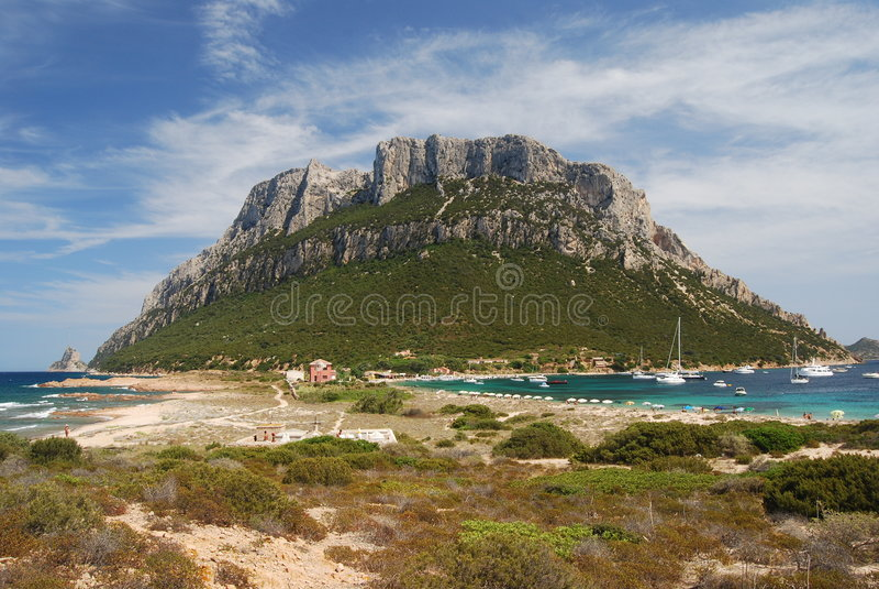 Isola Di Tavolara stock afbeelding