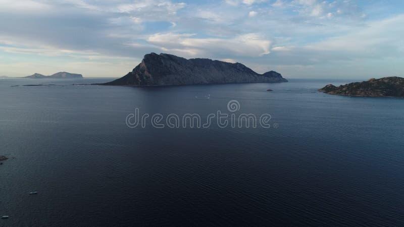 Isola di Tavolara - Sardegna dal fuco fotografie stock libere da diritti