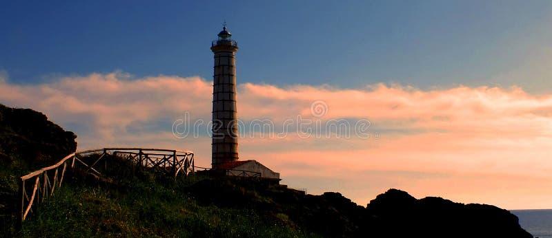 Isola di Ustica della casa leggera fotografia stock libera da diritti