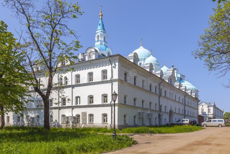 Isola di Valaam Monastero di Spaso-Preobraženskij Valaam fotografia stock libera da diritti
