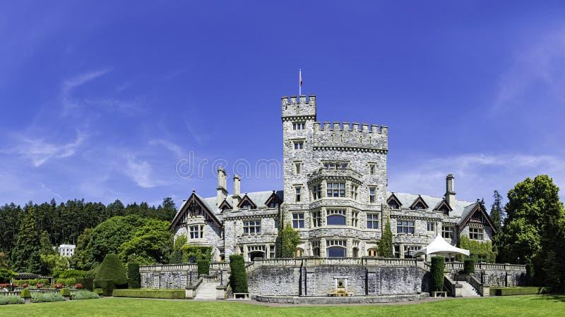 Isola di Vancouver nazionale del sito storico del castello di Hatley Victoria British Columbia, Canada fotografia stock