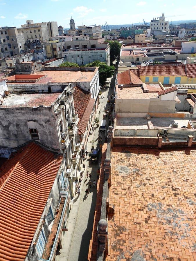 Isola di viaggio di Cuba dei tetti di scena della città all'aperto immagini stock libere da diritti