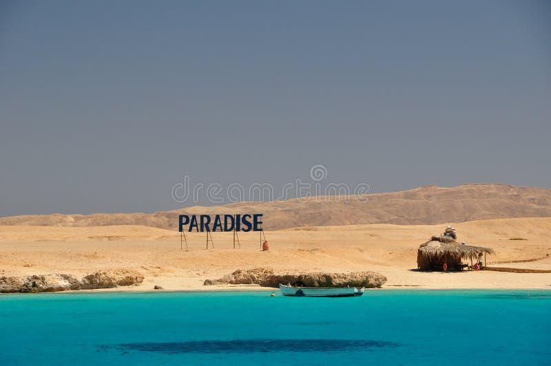 Isola Egitto di paradiso fotografia stock libera da diritti