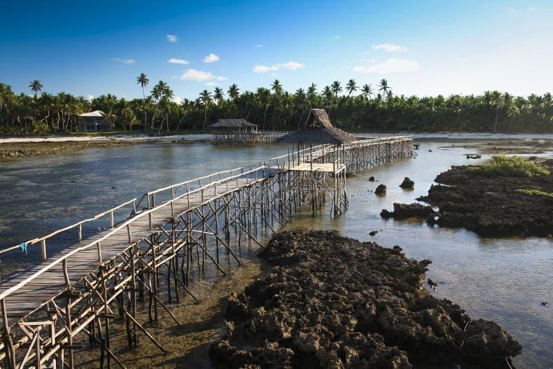 Isola Filippine di siargao del coud 9 della rottura della spuma fotografia stock libera da diritti