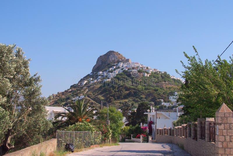Isola greca Chora, Grecia di Skyros fotografia stock libera da diritti