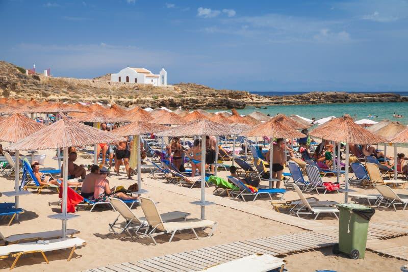 Isola greca di Zante Spiaggia popolare della Grecia immagine stock