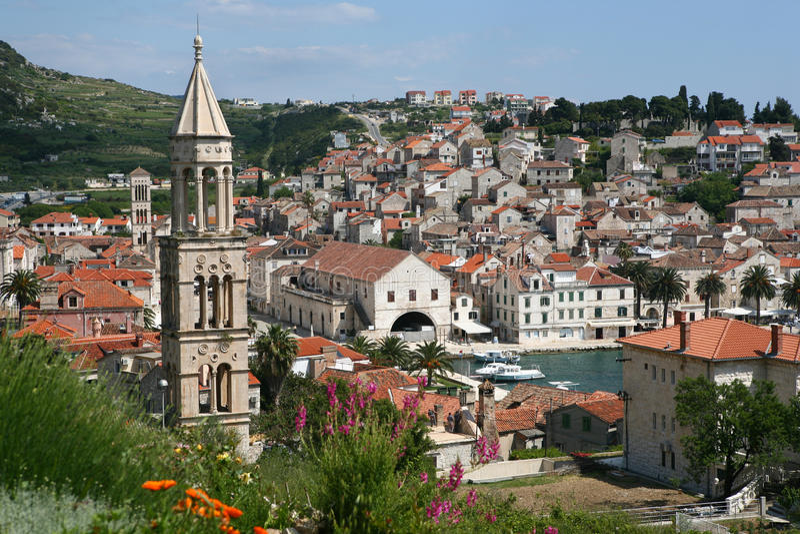 Isola Hvar, Croatia immagini stock libere da diritti