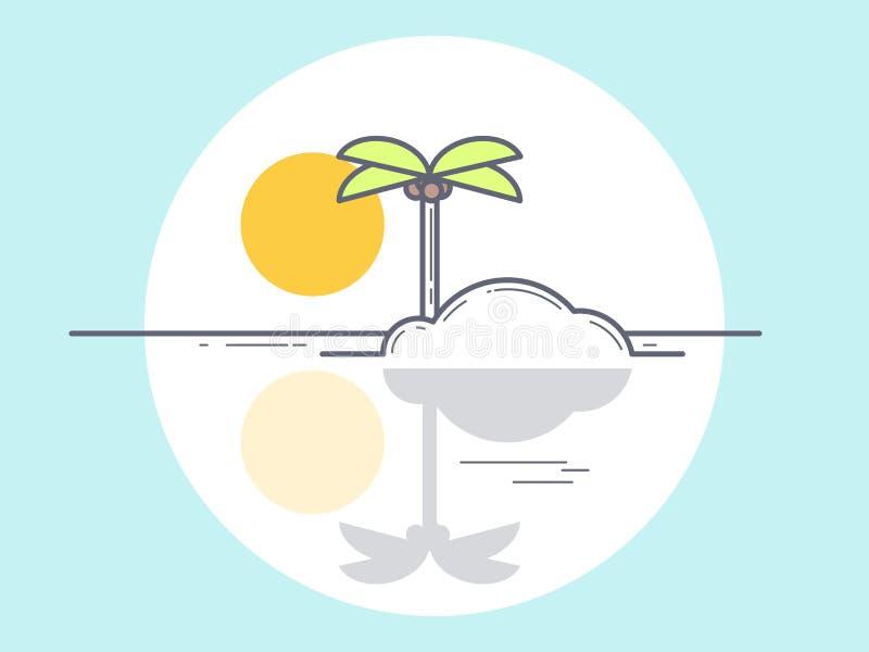 Isola, illustrazione di vettore immagine stock libera da diritti