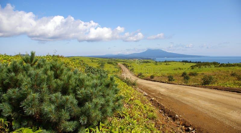 Isola Kunashir fotografia stock libera da diritti