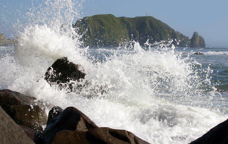 Isola Kunashir immagini stock