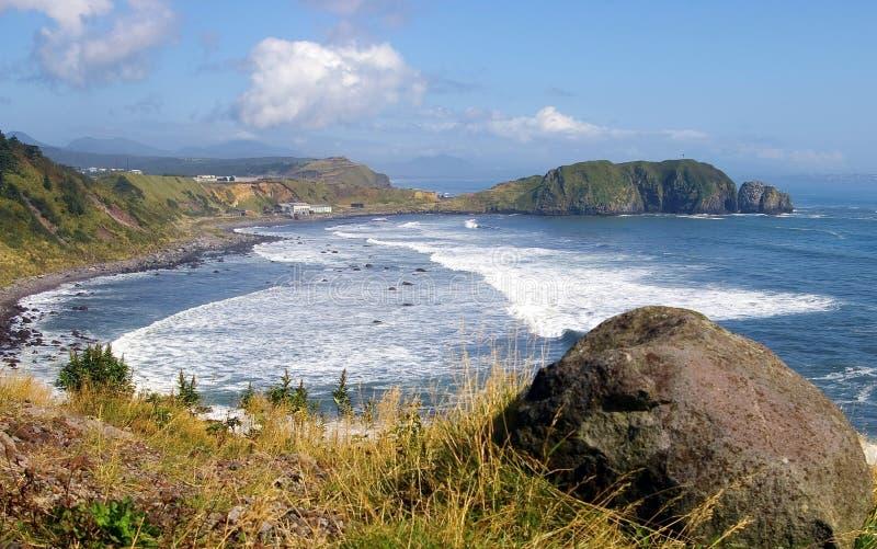 Isola Kunashir immagine stock libera da diritti