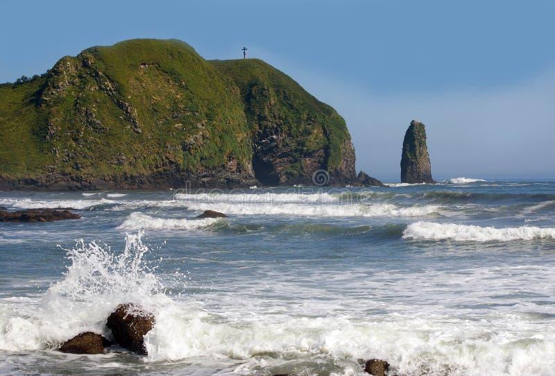 Isola Kunashir fotografie stock