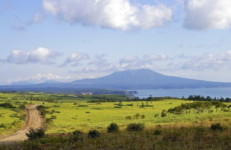 Isola Kunashir fotografie stock libere da diritti