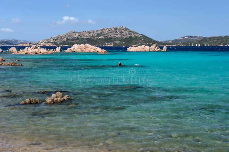 Isola Maddalena in Sardinige stock afbeelding