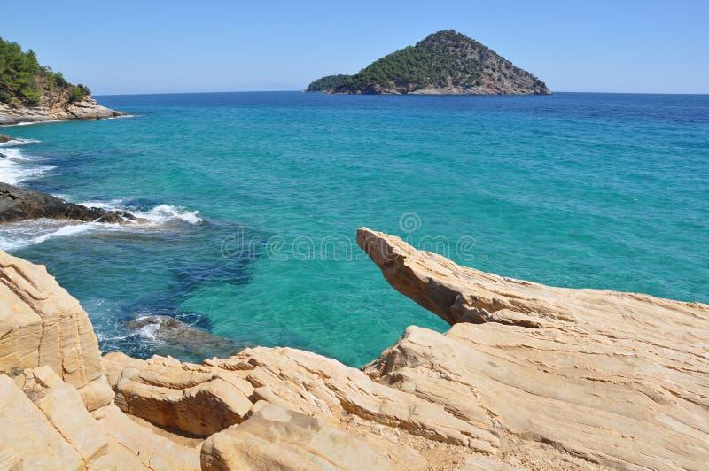 Isola mediterranea immagine stock