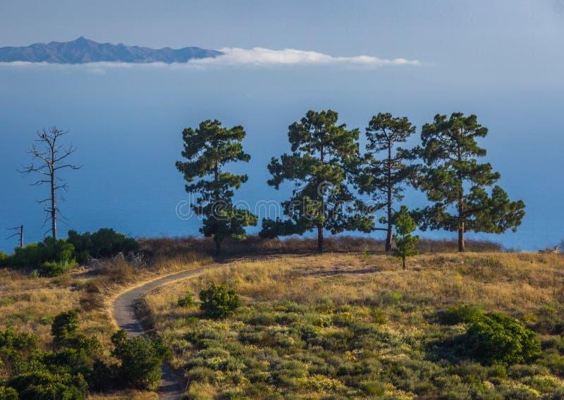 Isola nel cielo fotografia stock libera da diritti