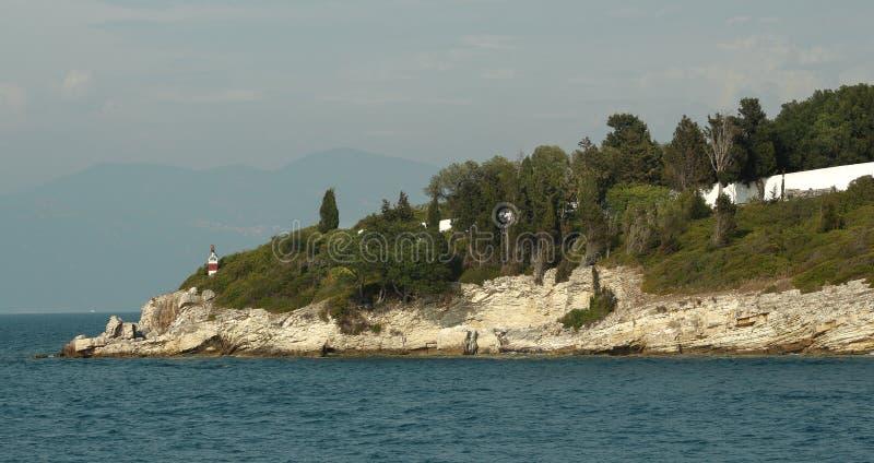 Isola nel Mar Ionio, Grecia fotografie stock