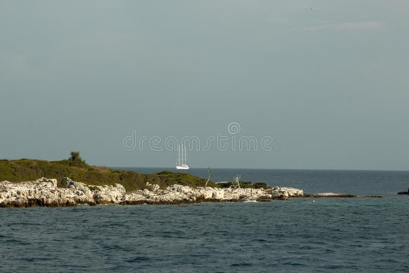 Isola nel Mar Ionio, Grecia fotografia stock libera da diritti