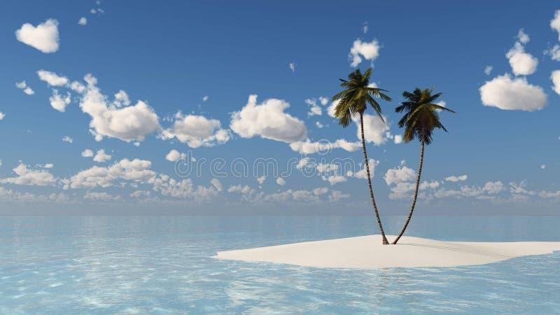 Download Isola Nell'oceano, Isola Tropicale Illustrazione di Stock - Illustrazione di alba, rappresentazione: 117979579