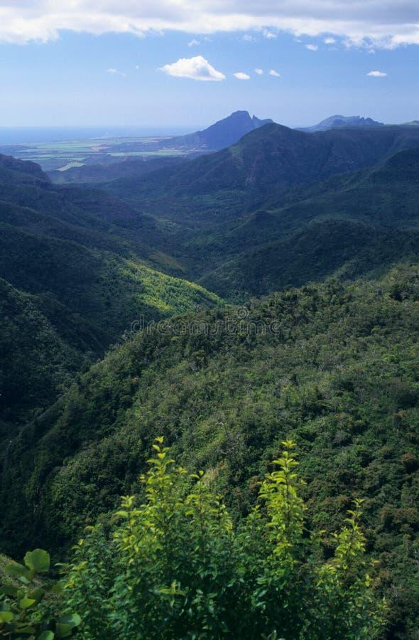 Isola nera dell'Isola Maurizio della gola del fiume fotografie stock libere da diritti