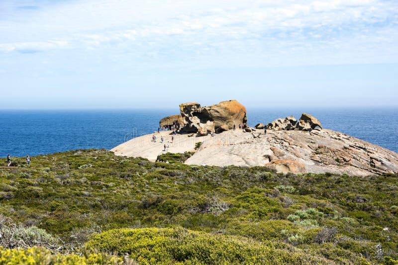 Isola notevole del canguro di rocce, Australia immagini stock libere da diritti