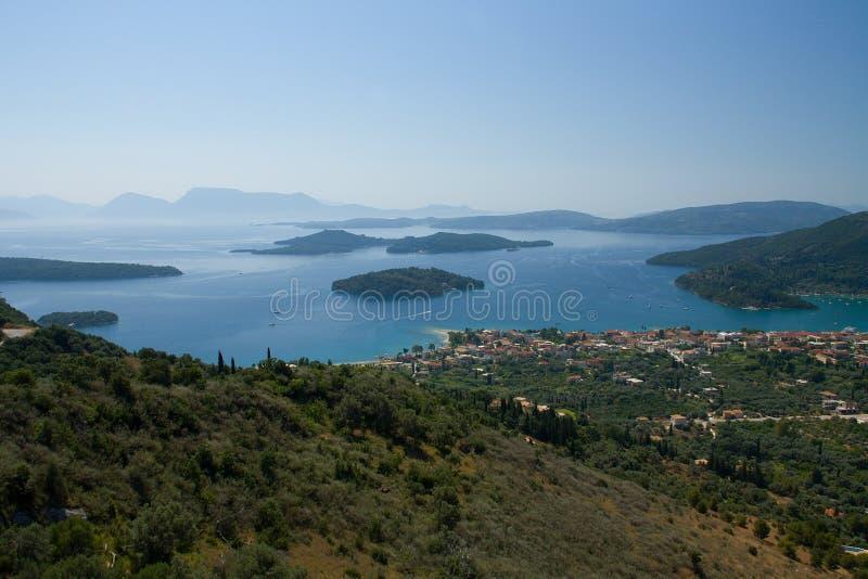 Isola Nydri di Leucade Grecia Skorpios Madouri Skorpidi fotografia stock