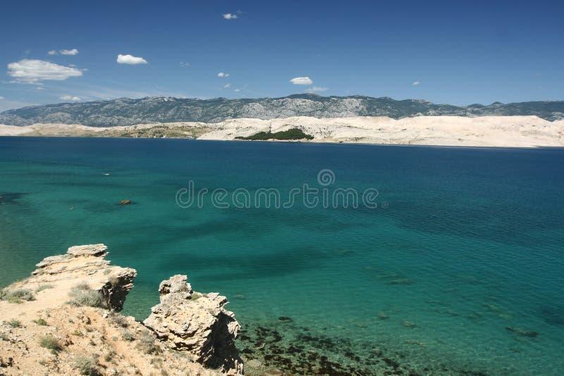 Isola PAG-Croatia immagine stock