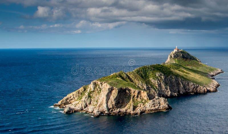 Isola Palagruza il faro 3 immagini stock libere da diritti