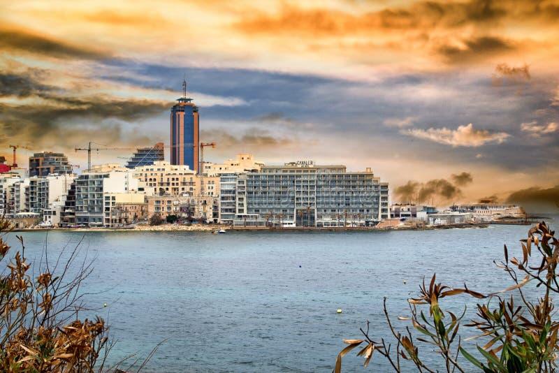 Isola pittoresca di Malta nel mar Mediterraneo immagini stock
