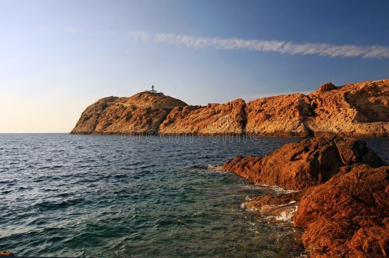 Isola rossa fotografie stock