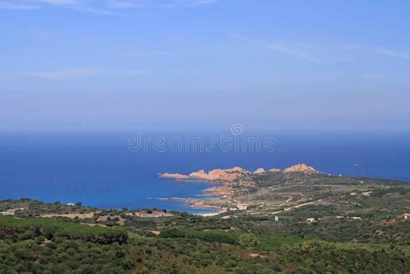Isola Rossa, Sardinia, Italy. Panoramic viel of Isola Rossa, Sardinia, Italy stock image
