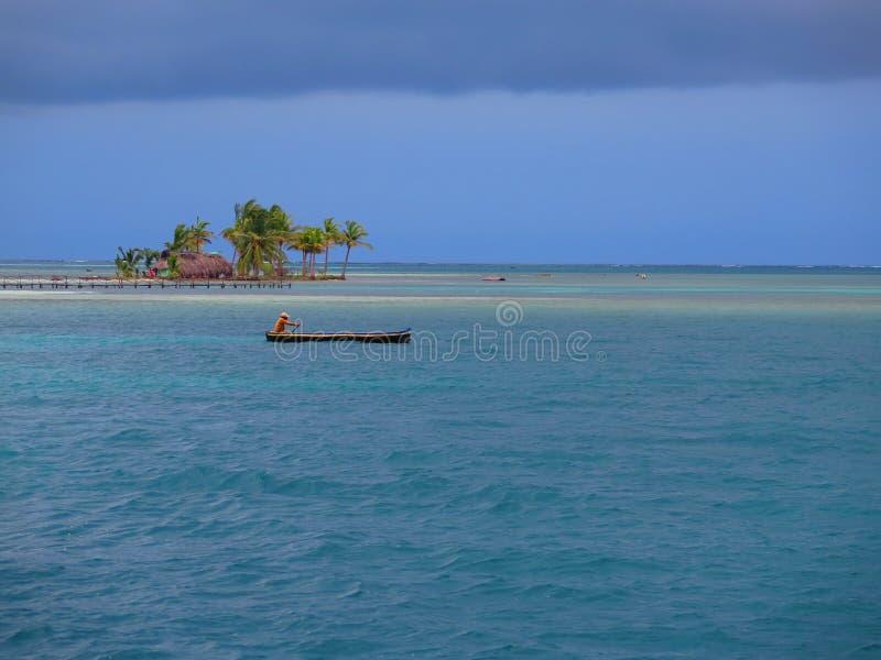 Isola a San Blas, Panama fotografia stock