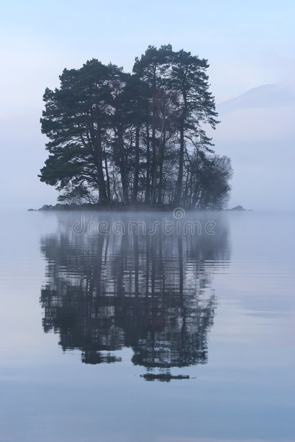 Isola scozzese oscura immagine stock