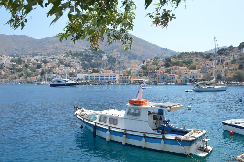 Isola Simy in Grecia immagini stock libere da diritti